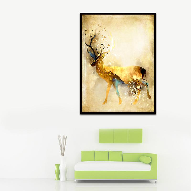 Compre Pintura Al Óleo Abstracta Moderna Sin Marco Decoración Enorme ...