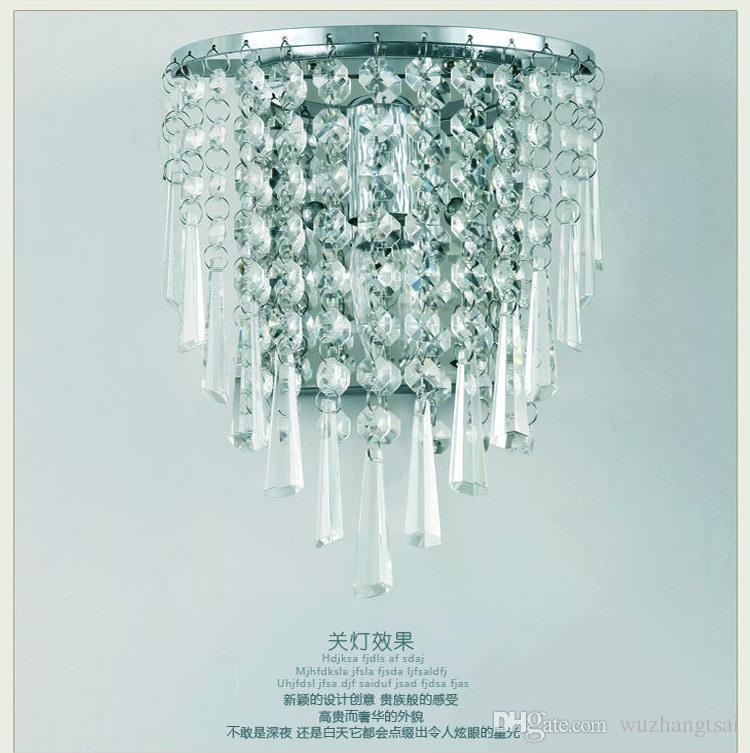 Prata art deco estilo corredor conduziu lâmpadas de parede sala sala de estar quarto de cristal luz lâmpada de luminária