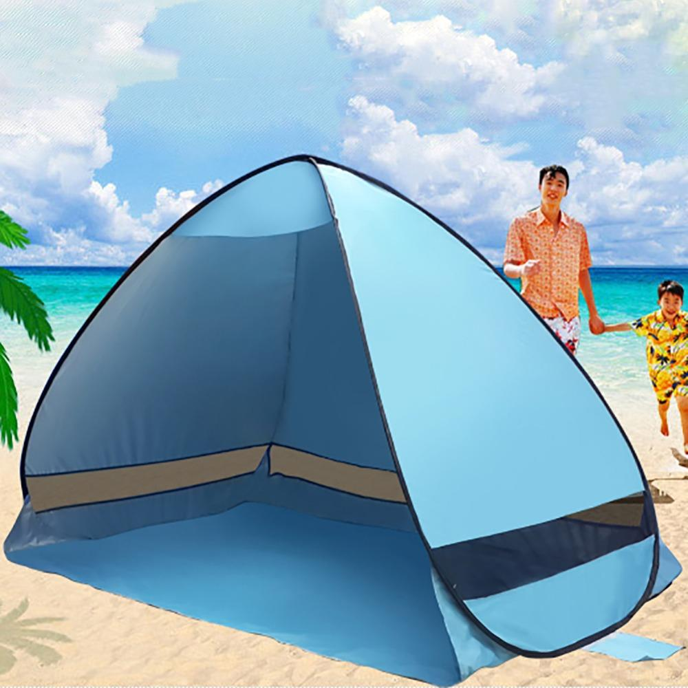 Wholesale SummerOutdoor C&ing HikingTent Beach Tent UV Protection Fully Automatic Sun Shade Portable Pop Up Beach Tent Family C&ing Tent Sunnc& Tents ...  sc 1 st  DHgate & Wholesale SummerOutdoor Camping HikingTent Beach Tent UV Protection ...