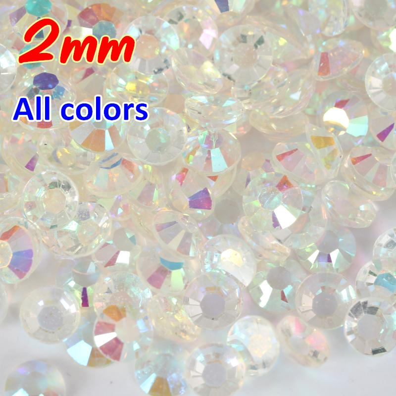 Wholesale Hot Sale 2mm All Ab Magic Color Jelly 2mm Resin Rhinestone ...