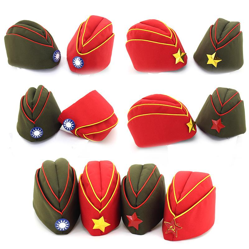 1d67f2b6 2019 Star Logo Women Russian Army Cap Berets Trend Stage Performance Sailor  Dance Boat Caps For Lady Girls Cosplay Stewardess Cap From Gslyy0712, ...