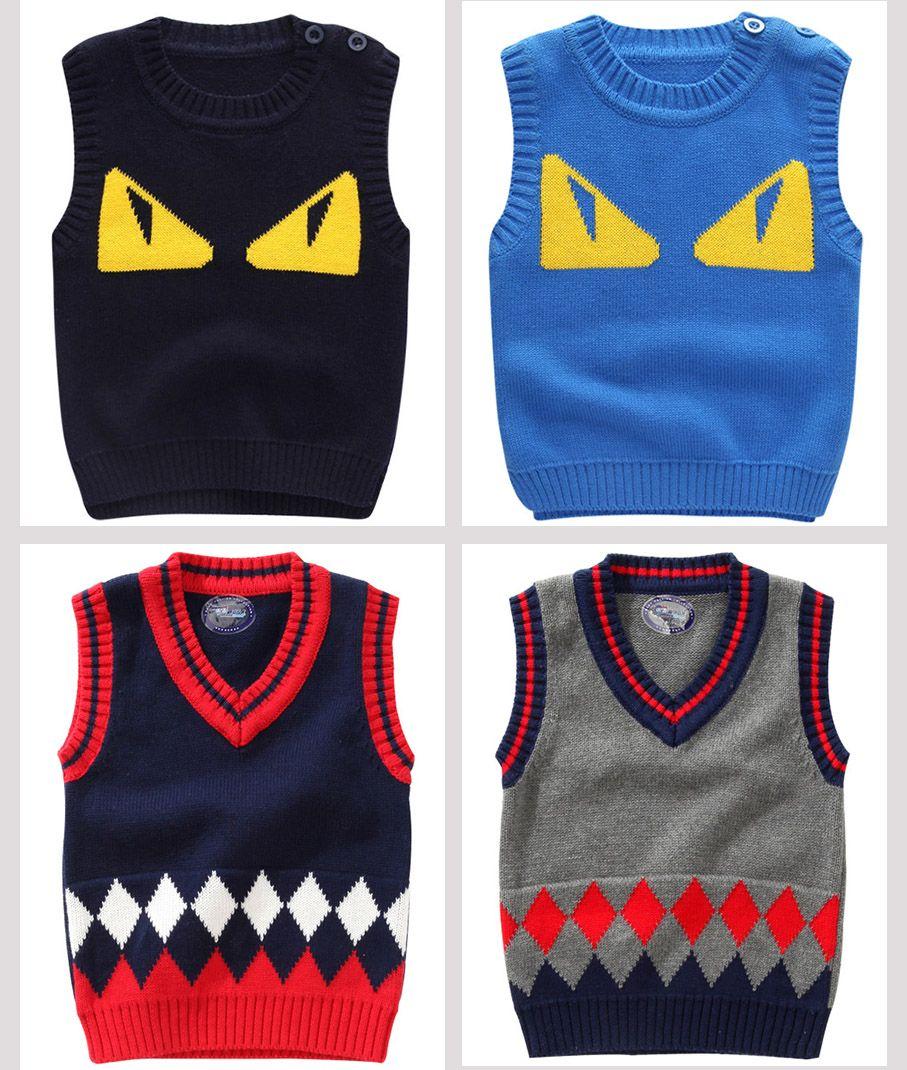 Großhandel Baby Strickwesten Häkeln Pullover Pullover Mit V ...