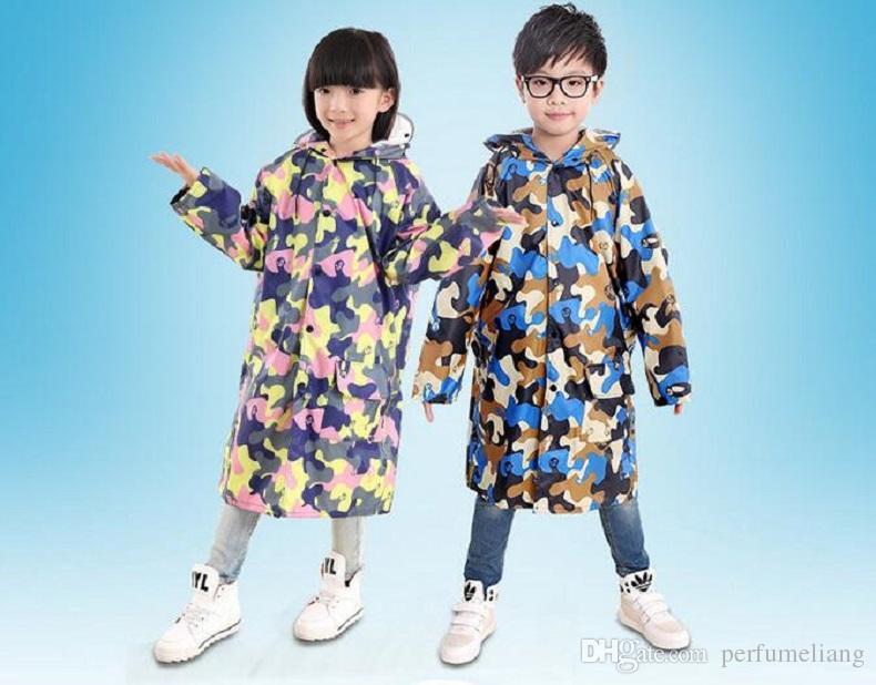 35 pz M-XXXL Colorato Camouflage Pattern Bambini Impermeabile Evironment Impermeabile Impermeabile Ragazzo Ragazza Studente Tuta Pioggia 2016 Poncho Impermeabile ZA0498