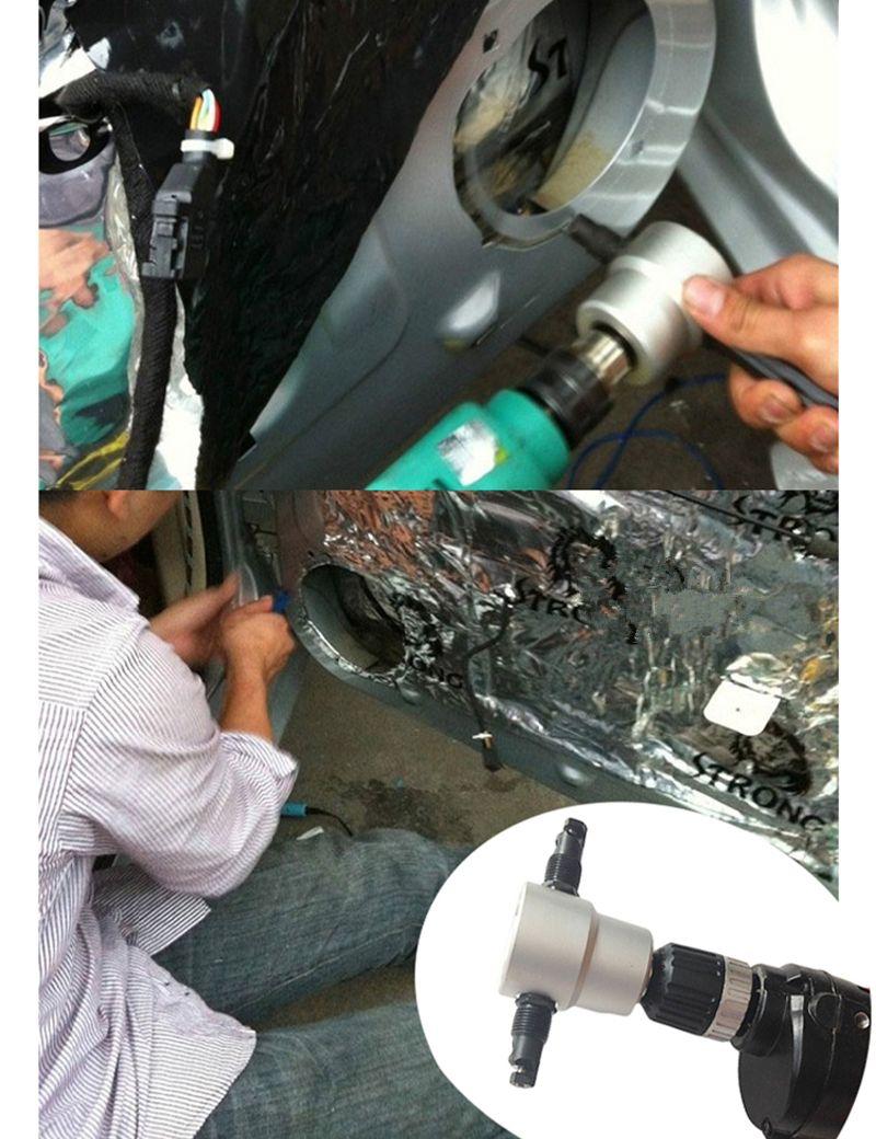 Metal Cutter Cutting Machine Work 8mm Electric Pneumatic Air Drills Cut Metal Sheet Iron Stainless Steel Copper Aluminum Plastic