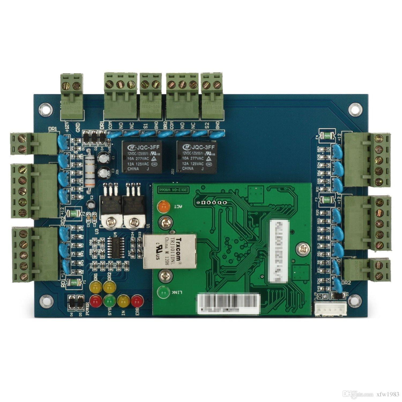 2018 tcp ip lan socket rfid ic reader 2 door access for Door access controller