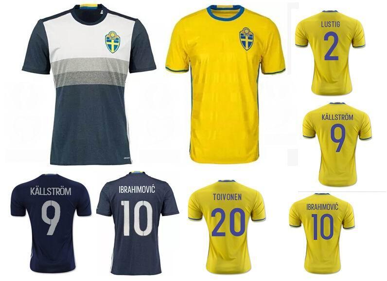 762dfaf3cbc ... 2017 sweden football jersey 2016 rio olympic euro cup ibrahimovic  kallstrom lustig national team bla