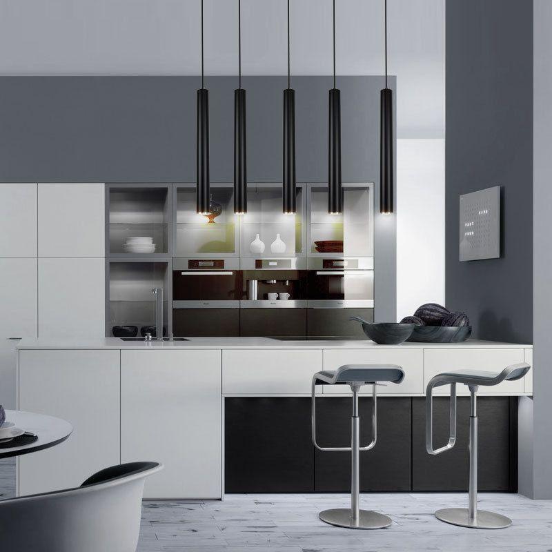 Kreative Pendelleuchten, moderne Küche Lampe Esszimmer Bar Zähler Shop Pipe Pendelleuchten Küche Licht, Zylinder Aluminium