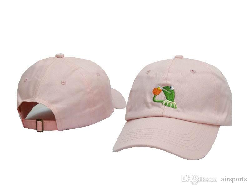 05e5a376407 Kermit Tea Daddy Hat StrapBack None Of My Business Emoji Frog Baseball Caps  Kanye West Heart Break Album Hat Kendrick Lamar Cap The Game Hats Baby Caps  From ...