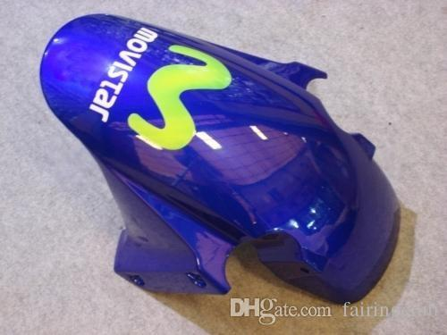 Juego de carenado de motocicleta para HONDA CBR600RR 03 04 CBR600RR F5 2003 2004 cbr 600rr Movistar verde azul ABS Carenados conjunto