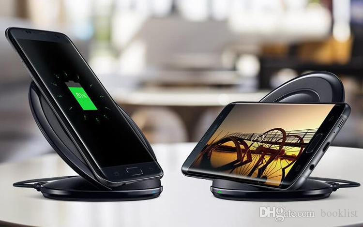 High Quality Qi Wireless Charger Qi Charging pad For Samsung Galaxy S7 edge S6 edge Plus Note 5 Stand with Package without Fan