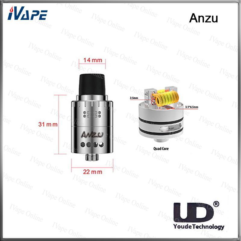 100% Original UD Youde Anzu RDA Tanque Anzu Atomizador Com Velocity-Estilo Postagem Ajustável Dual Airflow Design Crisp Sabor Maciço Availabl
