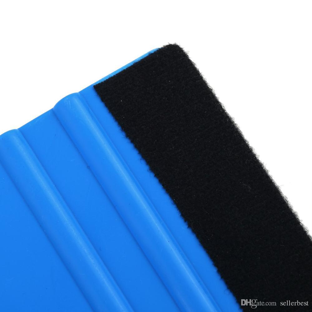 herramientas de envoltura de película de vinilo del coche 3 m enjugador con fieltro suave papel de pared raspador protector de pantalla móvil instalar herramienta de rasero