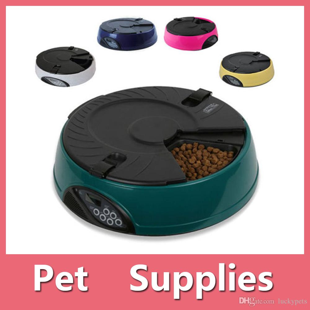 High Quality 6 Meal/day Automatic Pet Feeder For Cat Or Dog Holiday Auto Dispenser Bowl Lcd