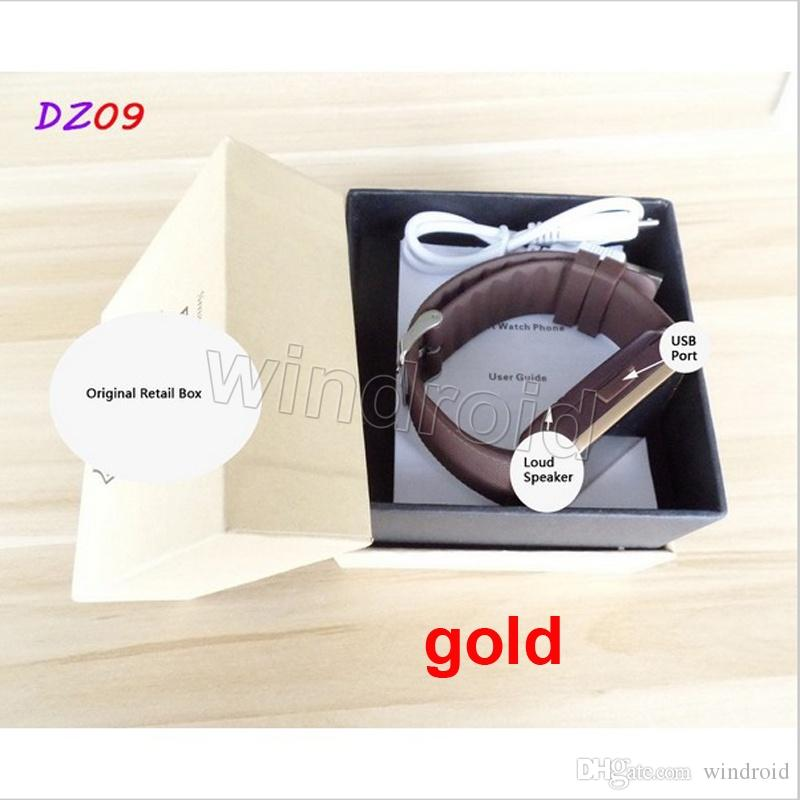 Hot Selling Smart Watch Teléfono GV08 Actualización HD DZ09 Sync Smartphone Llamada SMS Anti-Perdió Bluetooth Pulsera Reloj para teléfonos celulares inteligentes 10 unids