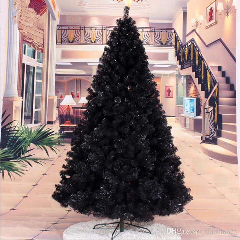 Compre 2.4 M / 240cm Árbol De Navidad Negro Decorado Paquetes De ...