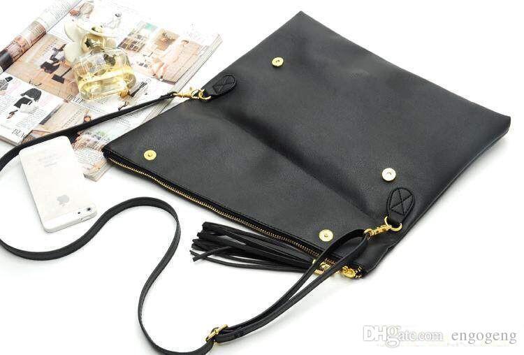 PU handbag G pattern tassel shoulder bag makeup bag option