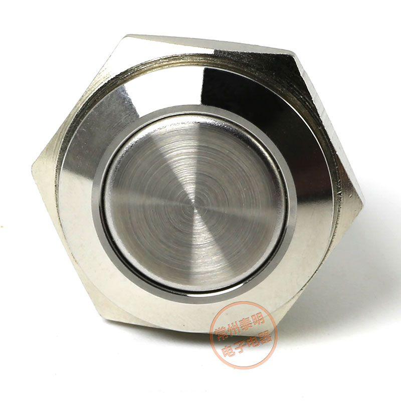 YJ-GQ16F-10 / j 금속 푸시 버튼 스위치 304 스테인레스 스틸 1NO 16mm DIA 셀프 리셋 순간 방수 전원 스위치