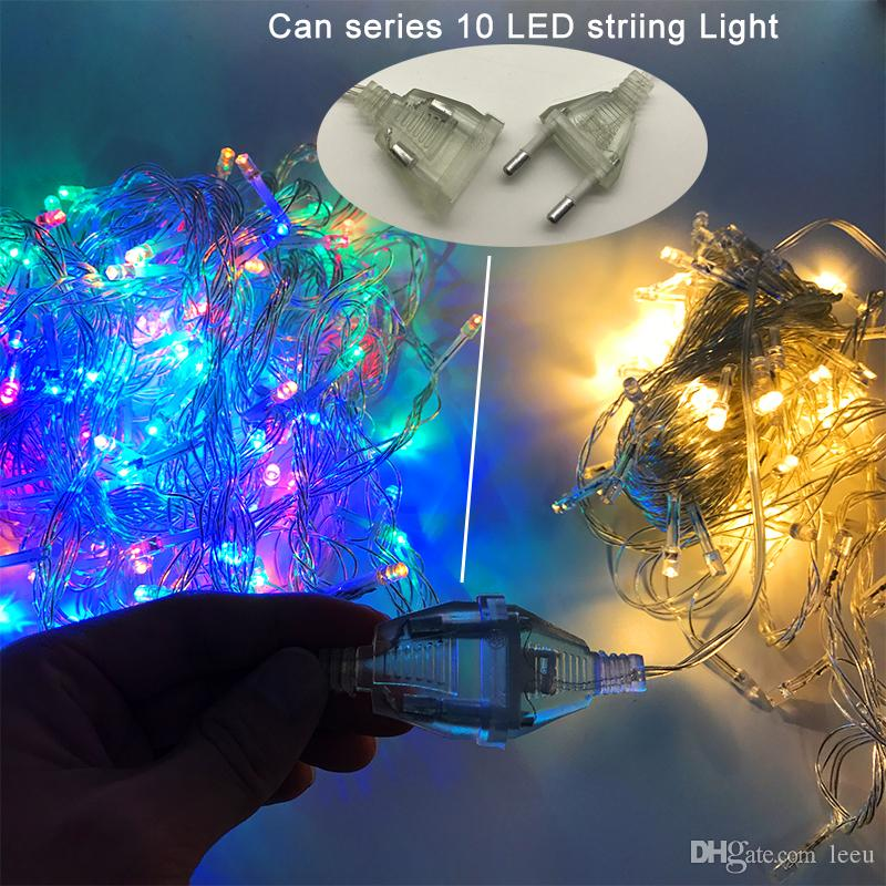 Led Strings Christmas Lights Crazy Selling 10M/PCS 100 LED Strings  Decoration Light 110V 220V For Party Wedding Led Holiday Lighting String Lights  Cheap ... - Led Strings Christmas Lights Crazy Selling 10M/PCS 100 LED Strings