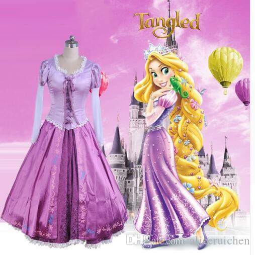 Adult Rapunzel Cosplay Costume Princess Tangled Sofia Dress Halloween Costume For Women Long Carnival Evening Party Dresses Girl Halloween Costume For 4 ... & Adult Rapunzel Cosplay Costume Princess Tangled Sofia Dress ...