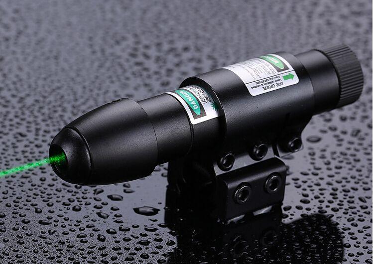 A vista tática verde compacta do laser com montagens do trilho do 20mm do tambor monta a caça