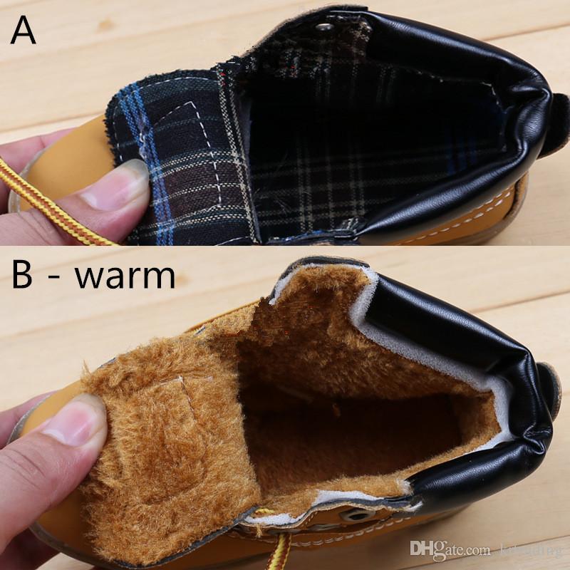 Niños calientan botas martin es primavera otoño invierno infantes con cordones zapatos para niños niñas 1-5T