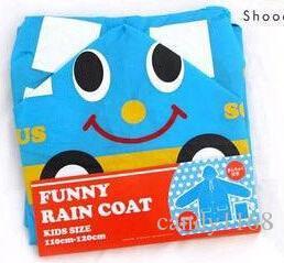 키즈 어린이 레인 코트 레인 코트 레인 코트 재킷 방수 아이 동물 레인 코트 판초 Funny Rain Coat