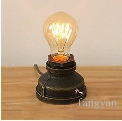 Loft E27 Vintage Industrial Metal Edison Desk Lamps Nightstand Steampunk Wrought Iron Base Antique Table Lamps Lights Night Lamps for Bedsid