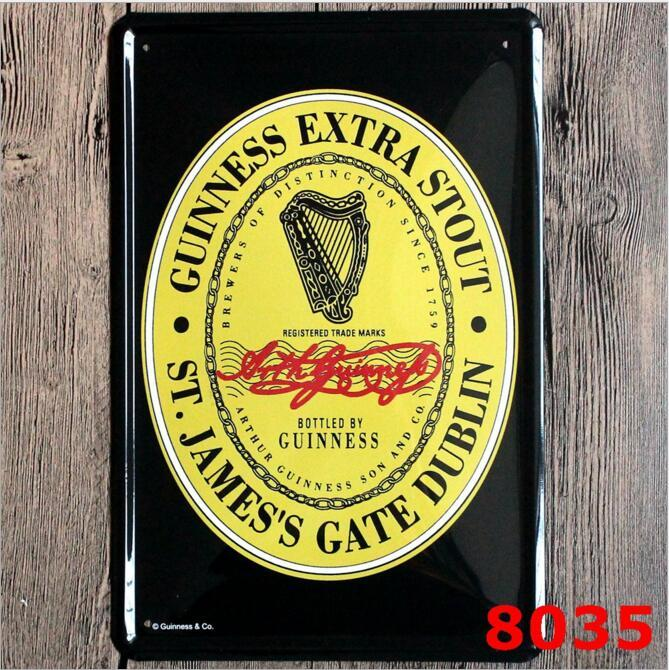 20*30cm Metal Tin Sign Beer my Guinness Retro Vintage Classic Tin Bar Pub Home Wall Decor Retro Tin Poster