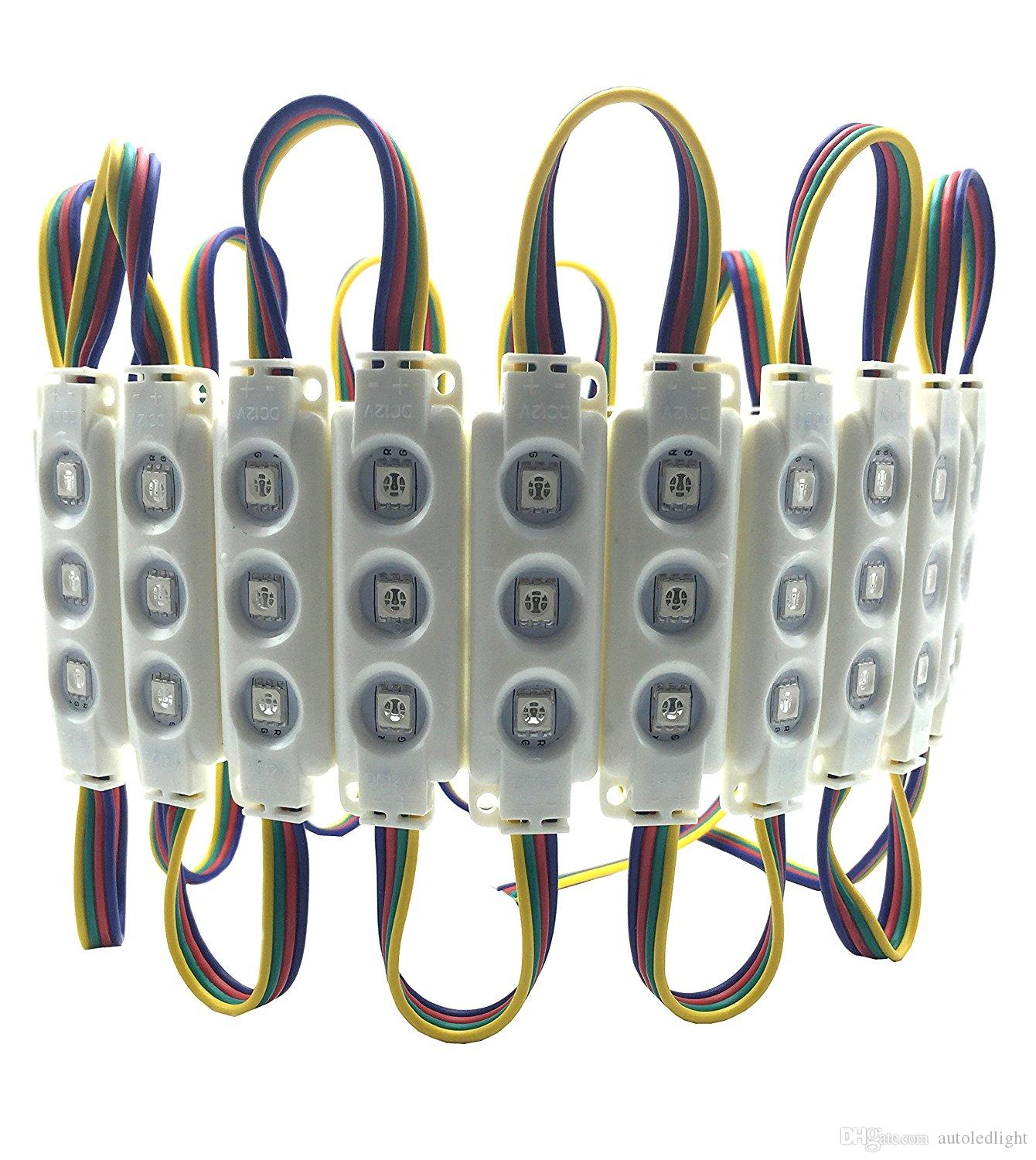Holiday lighting 5050 Injection 3 LED module RGB Waterproof DC12V modules For Channel Letters sign letter lights
