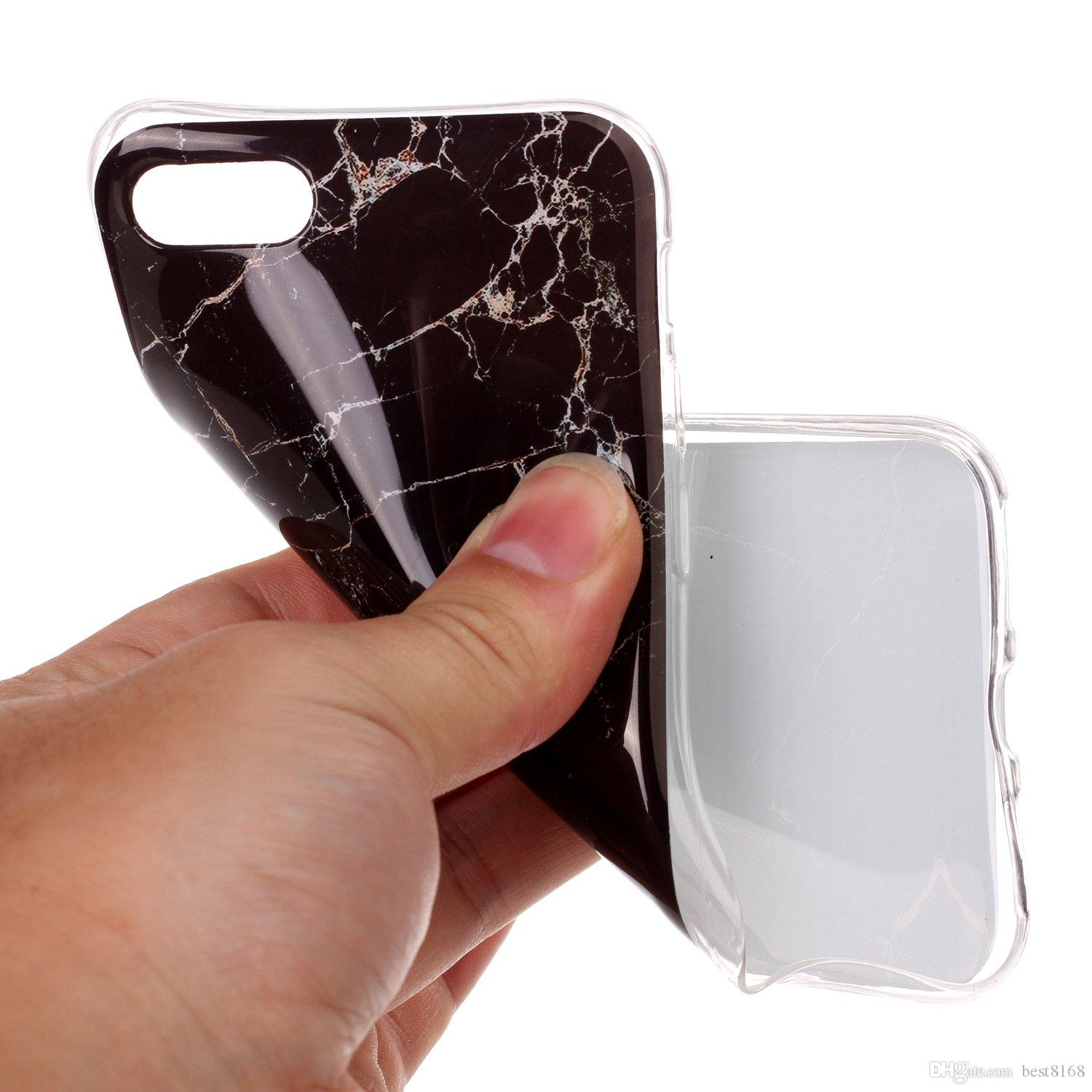 Marble Rock Stone Pattern Soft TPU IMD Case For iPhone 8 7/7Plus/6 6S/Plus/SE 5 5S/5C/4 4S/Ipod Touch 6 5 6g 5g Silicone Gel Back Cover Skin