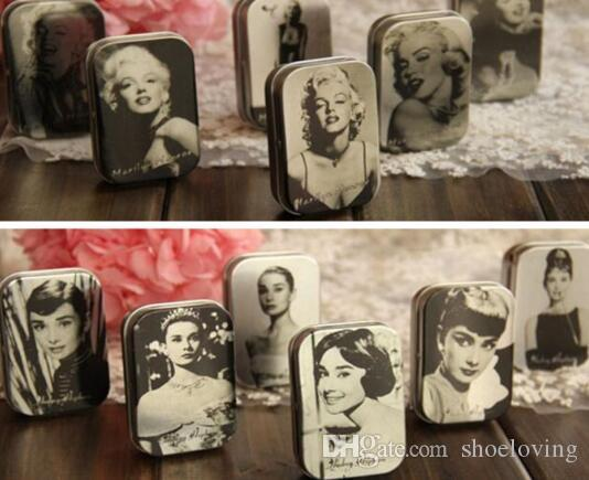 2018 Vintage Small Tin Jewelry Box Storage Box Medicine Rings Box