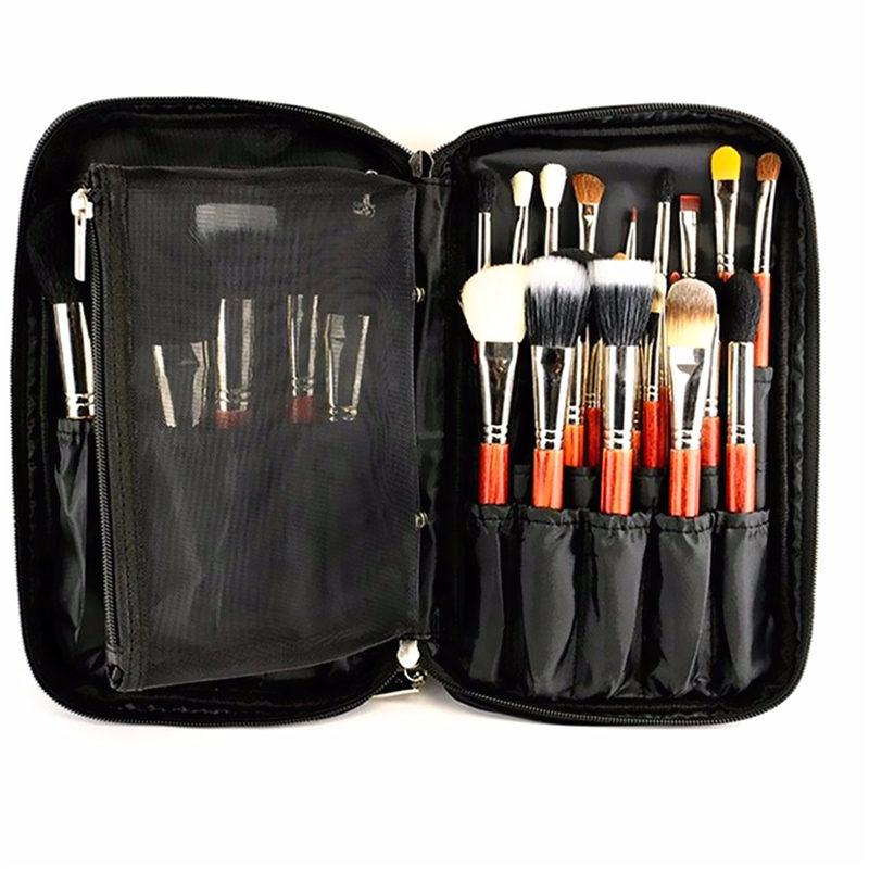 8a41061e25ce Wholesale-New Arrival Fashion Black Nylon Cosmetic Tool Makeup Brush Bag  Case Brushes Holder Pouch Kit Bag 27x16x4cm