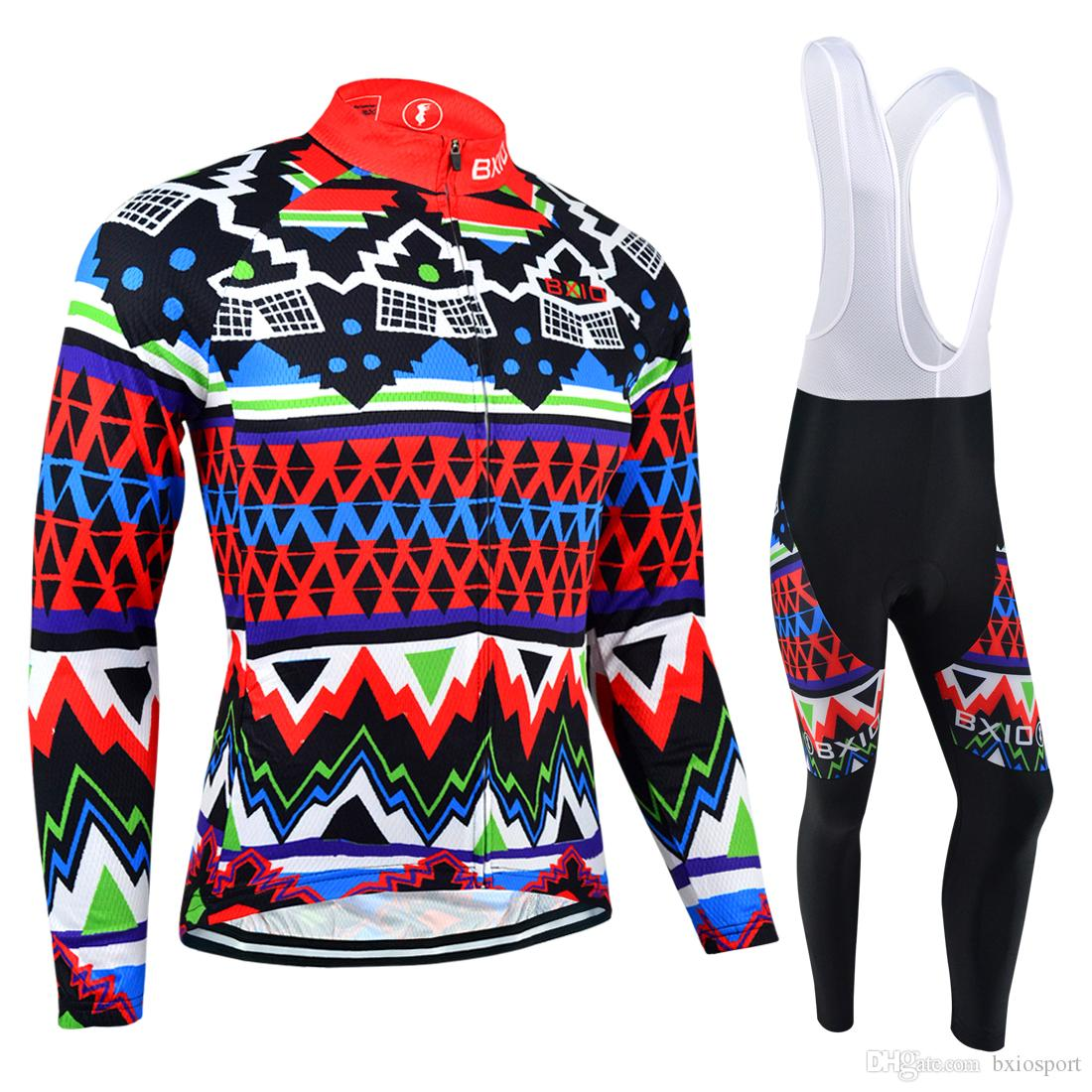 BXIO Cool Cycling Jerseys Winter Thermal Fleece And Autumn Long Mesh Bikes  Clothes Long Sleeve Suit Brightly Colored Cycle Jerseys BX 018 Mens Cycling  ... c6a0706ab