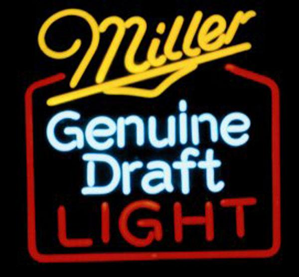 Miller Genuine Draft Light Neon Sign Negozio Negozio KTV Club Beer Bar Mote Pubblicità Display Custom Handcrafted Real Neon Sign Light 15