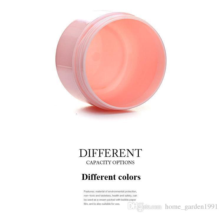 DHL бесплатно 20 г 50 г 100 г 250 г прозрачный большая круглая бутылка косметический пустой банку горшок тени для век бальзам для губ крем для лица образец контейнера 5 цветов