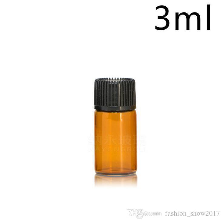 1 ml 2 ml 3 ml 5 ml Ambre compte-gouttes Mini bouteille en verre Flacon de présentation d'huile essentielle Petit sérum Parfum Marron Échantillon