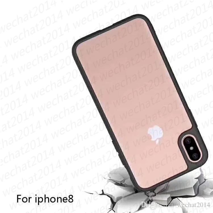 Stoßfester Rüstungsfall weicher TPU-Stoßfänger klarer Acryl rückseitige Abdeckung Defender-Fall für iPhone X 8 7 6 6s plus kein Paket