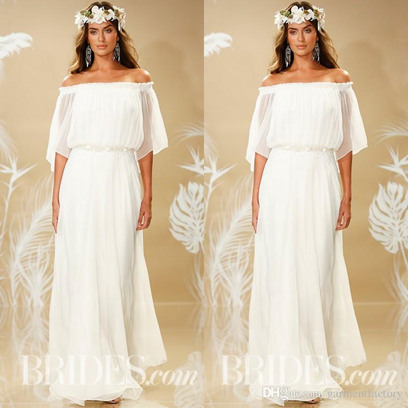 Ivory Greek Goddess 2017 Ivory Bohemia Wedding Dresses: Theia Fall 2017 Bohemian Wedding Dress Off Shoulder