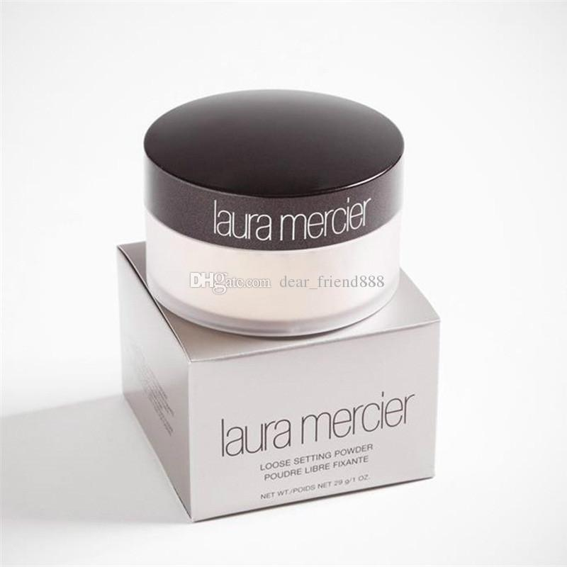 Hot Sale Translucent laura merci Loose Setting Powder Makeup 3 Color Professional Pouder Libre Fixante Brighten Concealer With Box 29g