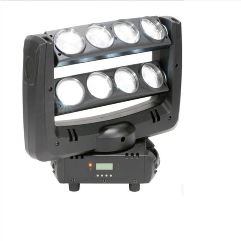 Диджея спайдера Сид moving головной свет мытья луча 8x10W RGBW водить 4in1 Белый этап lighting100W многоцветный изменить DMX контроллер