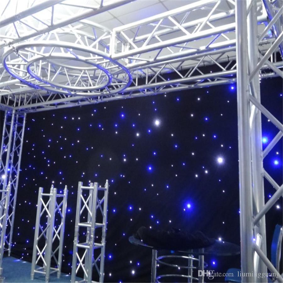 levou estrela cortina 3mx6m pano de fundo de pano de fundo de palco de casamento com função multi controlador dmx