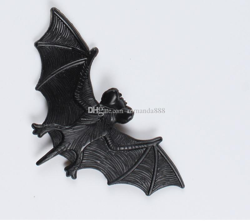 DHL Frete Grátis Halloween Tricky Adereços Divertido Simulação De Borracha Bat Halloween Masquerade Decoração Do Partido Tricky grande morcego brinquedos