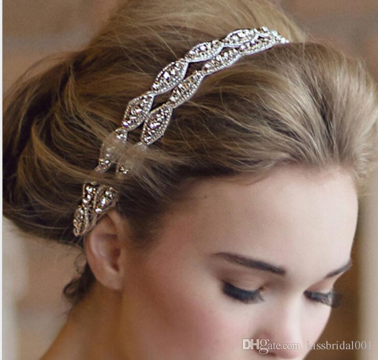 Cheap Low Price 2015 Hot Sale Girls Pageant Headband Hair Tiaras Crystal Wedding Bridal Accessories Swarovski Head Piece