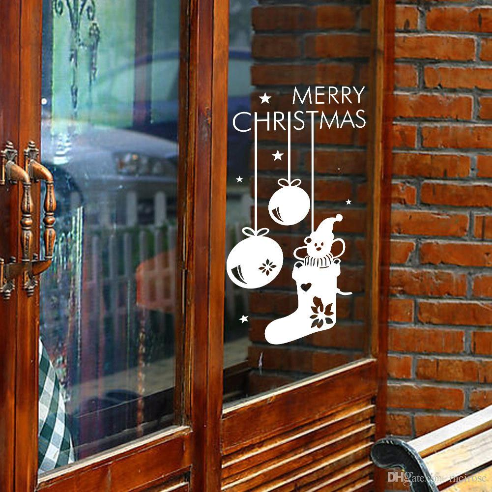 Wall Stickers for Christmas Decorative Wall Cecal Xmas Home Decoration With Snowman Window Display Removable Wallpaper Product Code:90-2016