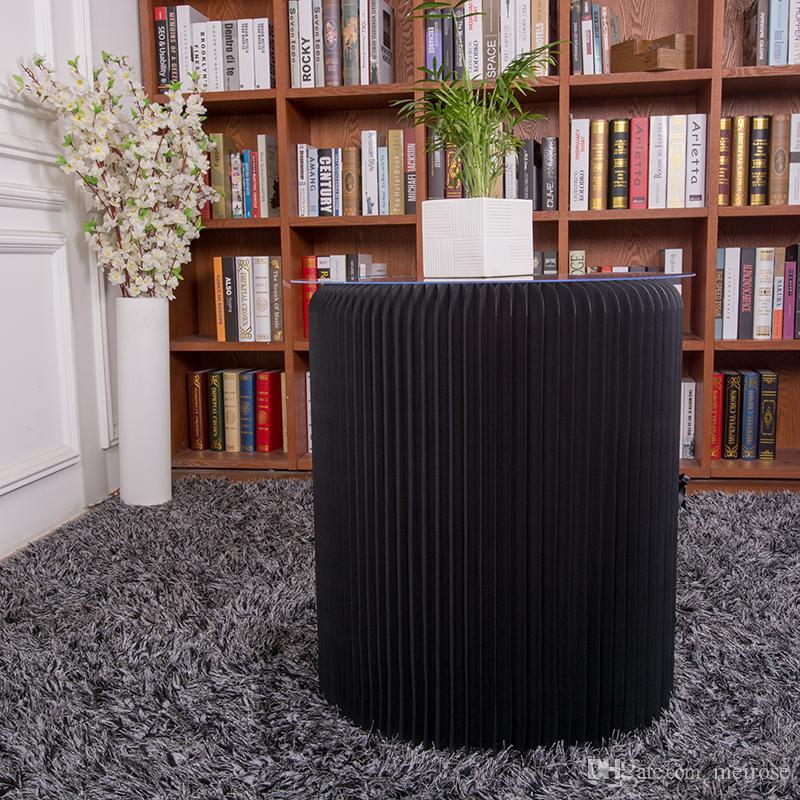 H63xDia56cm 혁신적인 가구 팝 - 작은 테이블 라운드 실내 Teatable 방수 아코디언 스타일 크래프트 접이식 협상 테이블 71-1031