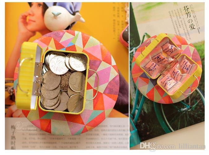 الإبداعية 6 أنماط الرجعية القصدير لوحة حقيبة صناديق الحلوى ل حفل زفاف هدية صناديق الحلو الزفاف الإحسان صندوق مجوهرات خمر