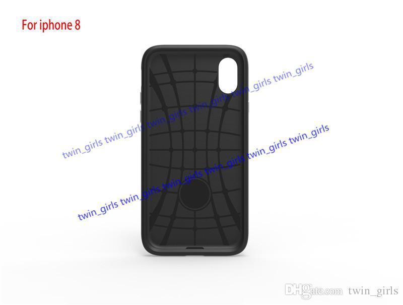 For iphone8 i8 SGP Case Hybrid TPU PC Protector i8 Hybrid Armor Case Diagonals Shockproof Cover