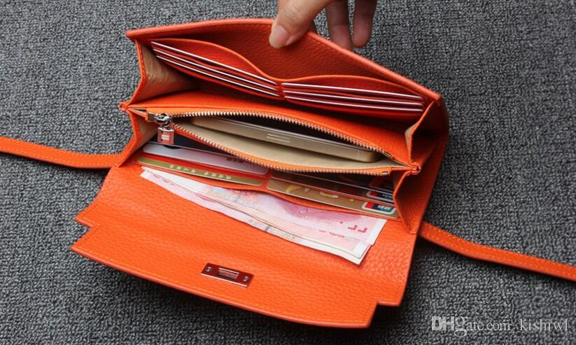 Super Gift !! BELLA JOY Luxury Women Designer Wallet High Quality Famous Brand Woman Wallets Genuine Leather Ladies Purses