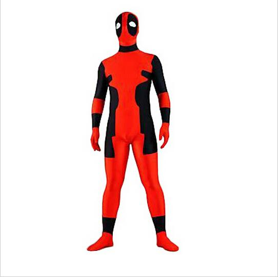 Good quality deadpool costums superhero amazing spandex full body tights cosplay halloween costumes for men women kids