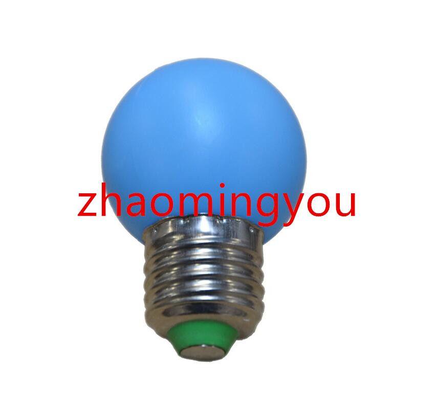 G45 Luz LED E27 1W Mini lámpara de bombilla 110-220V Luz nocturna Decoración blanca / roja / azul / verde / amarilla / rosa /